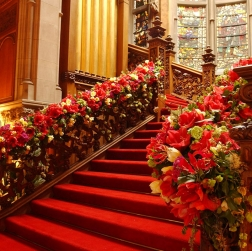 Prime Events, Weddings - Floral wedding staircase, Skibo Castle, Inverness, Scotland