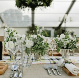 Prime Events, Weddings - Table Setting Aberdeen Scotland