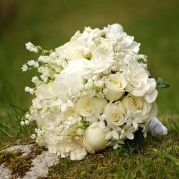 Prime Events, Weddings - White Bridal Bouquet, Scotland